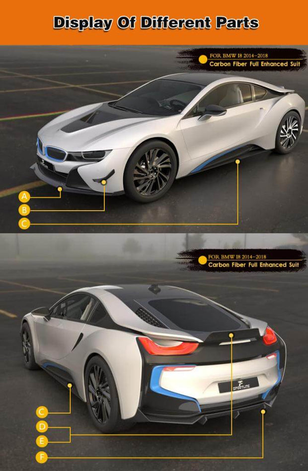 For BMW I8 Coupe 14-18 Auto Carbon Fiber Package Wide Body Kit