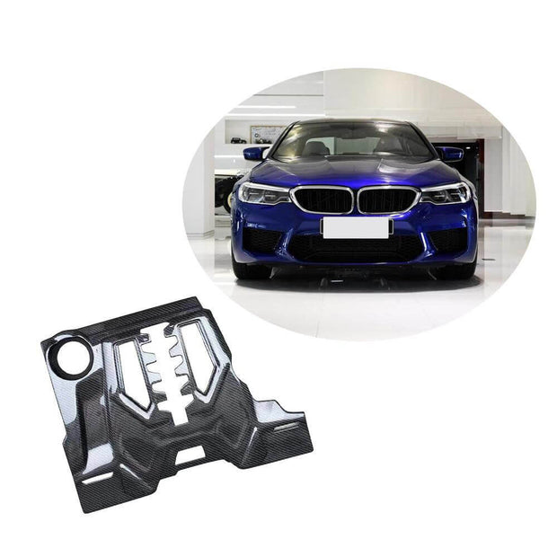 For BMW 5 Series F90 M5 Sedan 18-20 Carbon Fiber Car Engine Valve Protector Hood Bonnet Cover