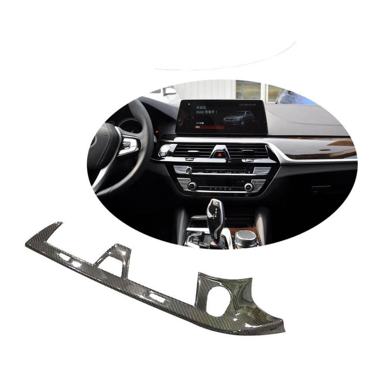 For BMW 5 Series G30 F90 M5 Sedan 17-20 Carbon Fiber Interior Center Console Air Outlet Dashboard Frame Cover Trim