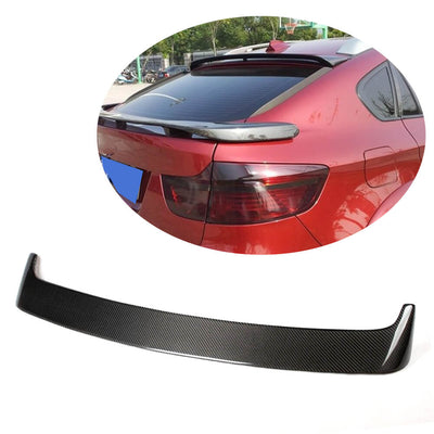 For BMW X6 E71 Sport Utility 08-14 Carbon Fiber Rear Roof Spoiler Window Wing Lip