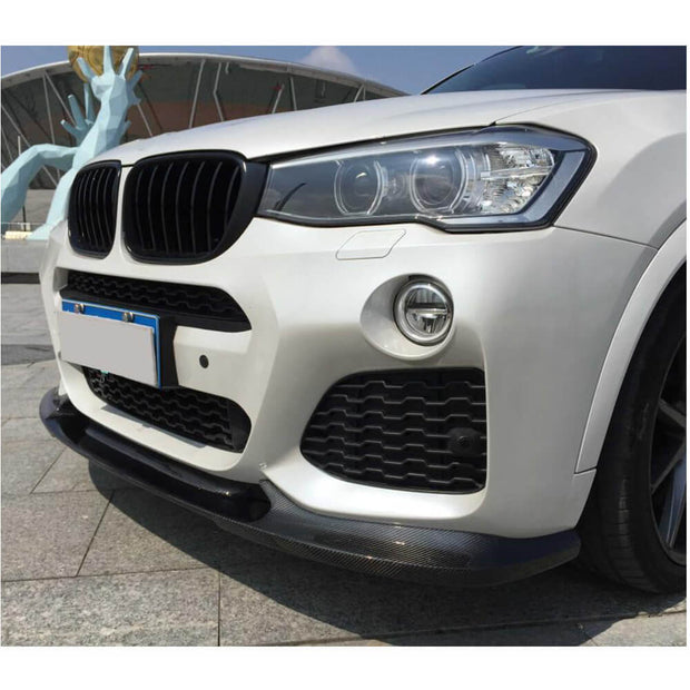 For BMW X4 F26 M Sport Sport Utility 14-18 Carbon Fiber Front Bumper Lip Chin Spoiler Body Kit