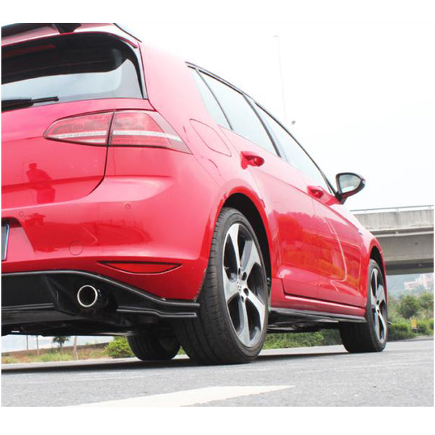 For Volkswagen VW Golf 7 MK7 GTI Hatchback 14-16 Carbon Fiber Side Skirts Under Door Rocker Panels Extension Lip