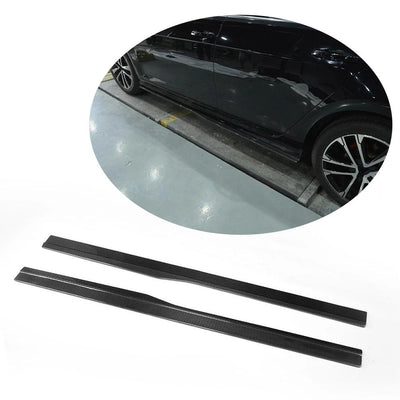 For Volkswagen VW Golf 7 MK7 R R-line Hatchback 14-16 Carbon Fiber Side Skirts Door Rocker Panels Extension Lip