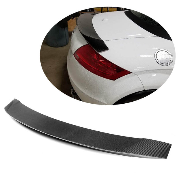 For Audi TT TTS Sline Mk2 8J Pre-facelift 08-14 Carbon Fiber Rear Trunk Spoiler Boot Wing Lip