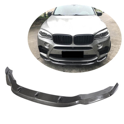 For BMW X5M F85 X6M F86 Sport Utility 15-19 Carbon Fiber Front Bumper Lip Chin Spoiler Body Kit