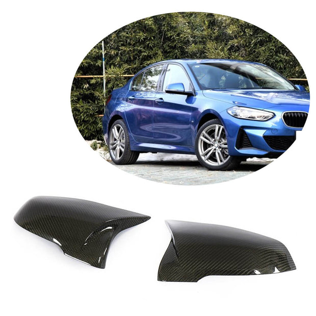 For BMW X1 F48 Sport Utility 16-20 Carbon Fiber Side Rearview Mirror Cover Caps Pair