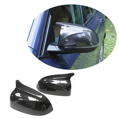 For BMW X3 G01 X4 G02 Sport Utility 18-21 Carbon Fiber Side Rearview Mirror Cover Caps Pair