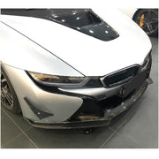 For BMW I8 Coupe 14-18 Carbon Fiber Front Bumper Lip Chin Spoiler Body Kit