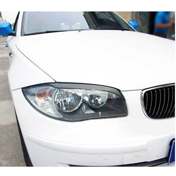For BMW 1 Series E81 E87 E82 E88 2-Door 3-Door 5-Door 05-13 Carbon Fiber Headlight Eyebrows Lamp Eyelids