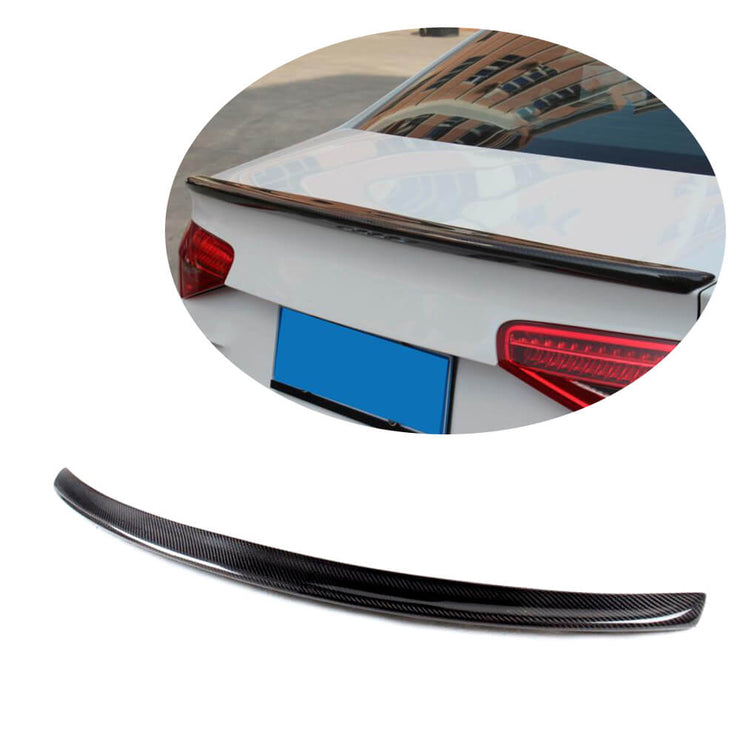 For Audi A4 B8 B8.5 Sline S4 Sedan 09-16 Carbon Fiber Rear Trunk Spoiler Boot Wing Lip