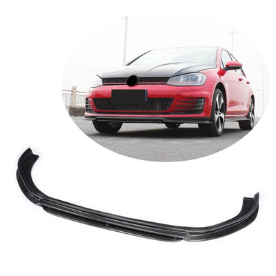 For Volkswagen VW Golf 7 MK7 GTI Hatchback 14-16 Carbon Fiber Front Bumper Lip Spoiler
