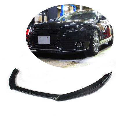 For Audi S4 A4 B8 Sline Sedan Pre-facelift 09-12 Carbon Fiber Front Bumper Lip Chin Spoiler