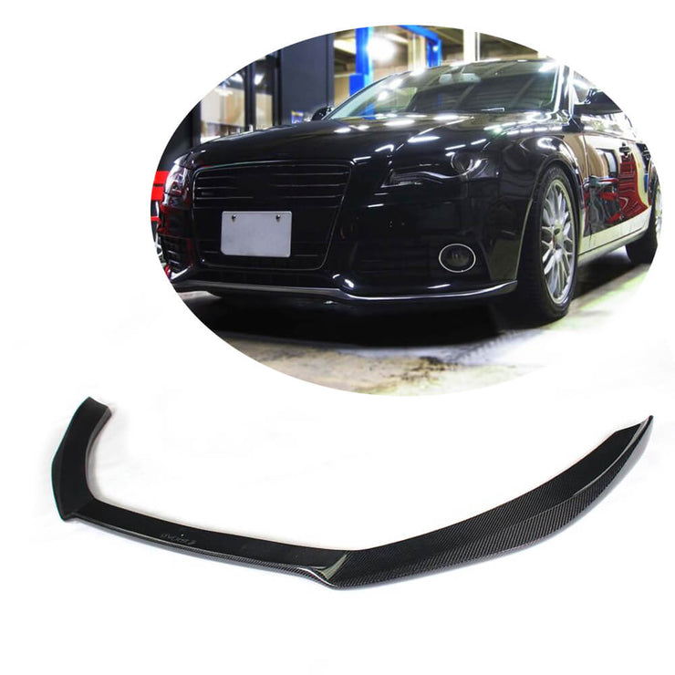 For Audi S4 A4 B8 Sline Sedan Pre-facelift 09-12 Carbon Fiber Front Bumper Lip Chin Spoiler Body Kit