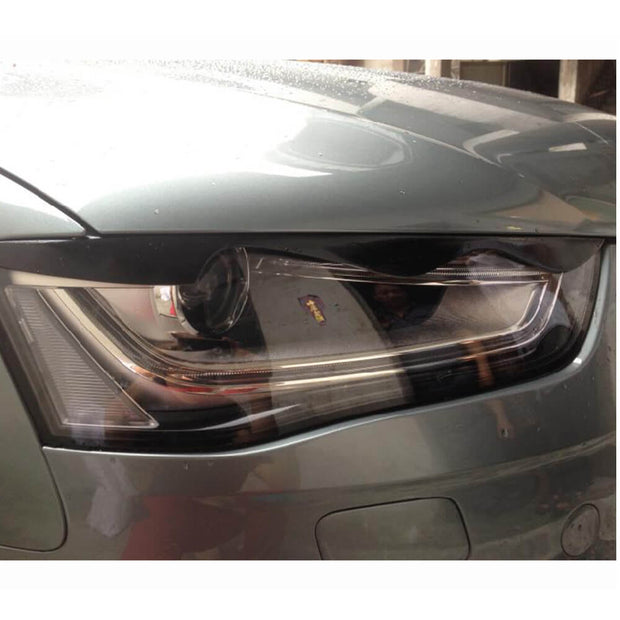 For Audi A4 B8.5 Sline S4 Sedan Facelift 13-16 Carbon Fiber Headlight Eyebrows Lamp Eyelids