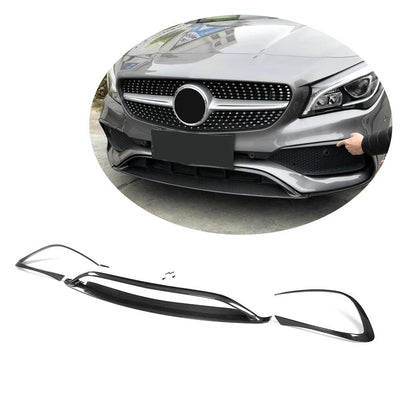 For Mercedes Benz W117 C117 Sport Sedan 17-19 Carbon Fiber Front Bumper Lip Chin Spoiler Body Kit