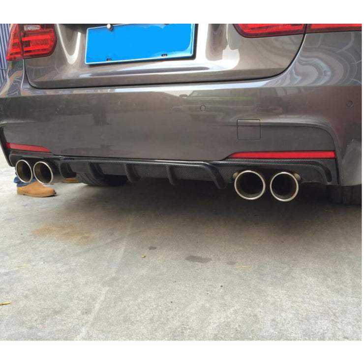 For BMW 3 Series F30 M Sport Sedan 12-18 Carbon Fiber Rear Bumper Diffuser Body Kit