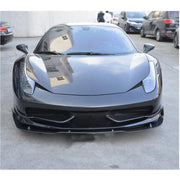 For Ferrari 458 Italia Spider 2-Door 11-13 Carbon Fiber Front Bumper Lip Chin Spoiler Body Kit