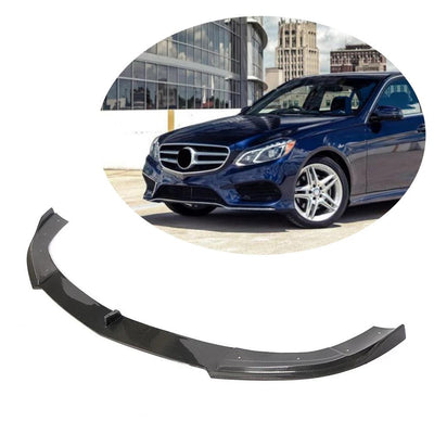 For Mercedes Benz W212 Sport Sedan 14-16 Carbon Fiber Front Bumper Lip Chin Spoiler Body Kit