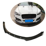 For Jaguar XF Sedan 16-19 Carbon Fiber Front Bumper Lip Chin Spoiler Body Kit