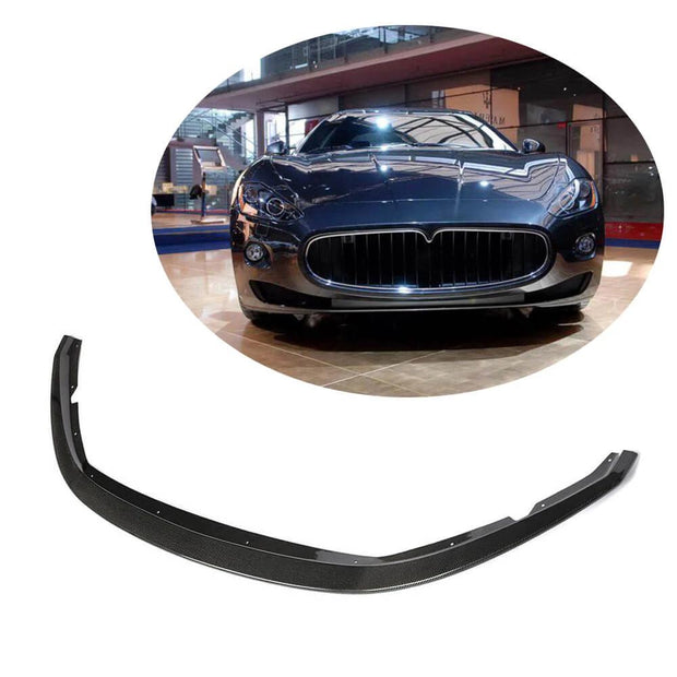 For Maserati Gran Turismo GT Base Coupe 07-09 Carbon Fiber Front Bumper Lip Chin Spoiler Body Kit