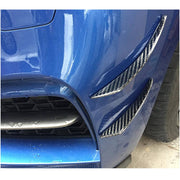 Universal Sedan Coupe Convertible Carbon Fiber Front Bumper Fins Air Vent for BWW Audi Benz