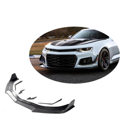 For Chevrolet Camaro 2-Door 16-19 Carbon Fiber Front Bumper Lip Chin Spoiler Body Kit