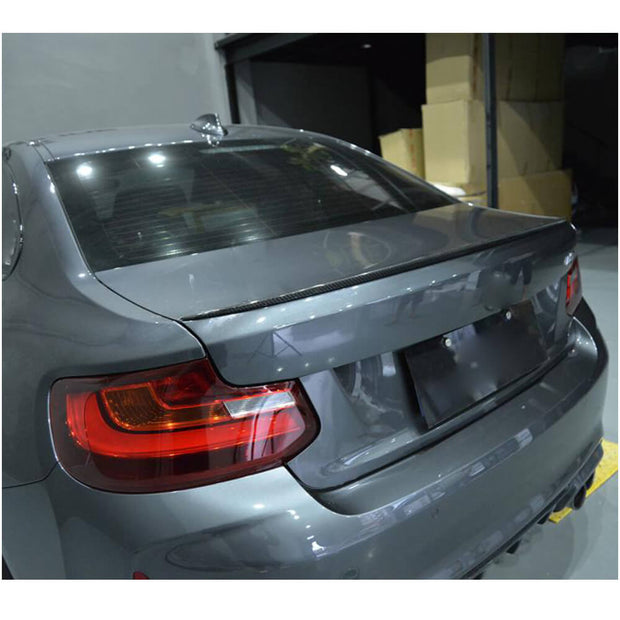 For BMW 2 Series F22 F87 M2 Coupe 14-20 Carbon Fiber Rear Trunk Spoiler Boot Wing Lip