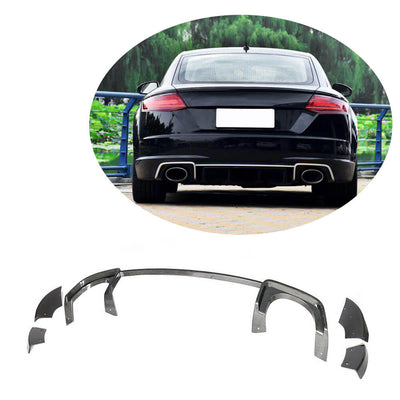 For Audi TT RS 2-Door 16-19 Carbon Fiber Rear Bumper Diffuser Body Kit