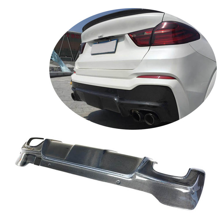 For BMW X4 F26 M Sport Sport Utility 14-18 Carbon Fiber Rear Bumper Diffuser Body Kit