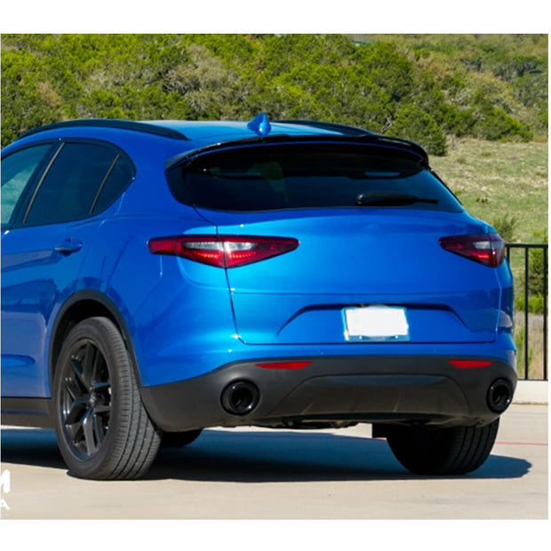 For Alfa Romeo Stelvio Sport Utility 17-19 Carbon Fiber Rear Roof Spoiler Window Wing Lip