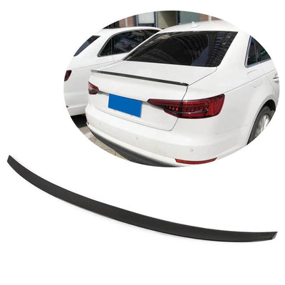 For Audi A4 B9 Sline S4 Sedan 17-20 Carbon Fiber Rear Trunk Spoiler Boot Wing Lip