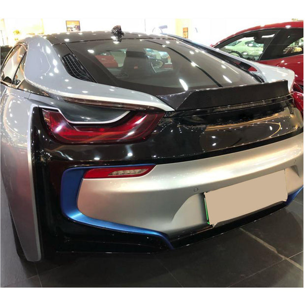 For BMW I8 Coupe 14-18 Carbon Fiber Rear Trunk Spoiler Boot Wing Lip