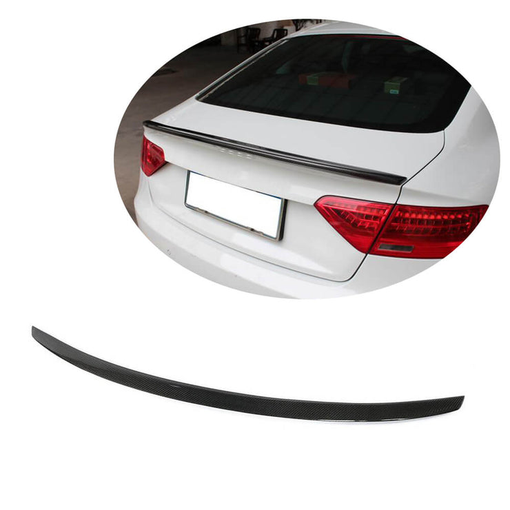 For Audi A5 B8 B8.5 Sline Sportback 09-16 Carbon Fiber Rear Trunk Spoiler Boot Wing Lip