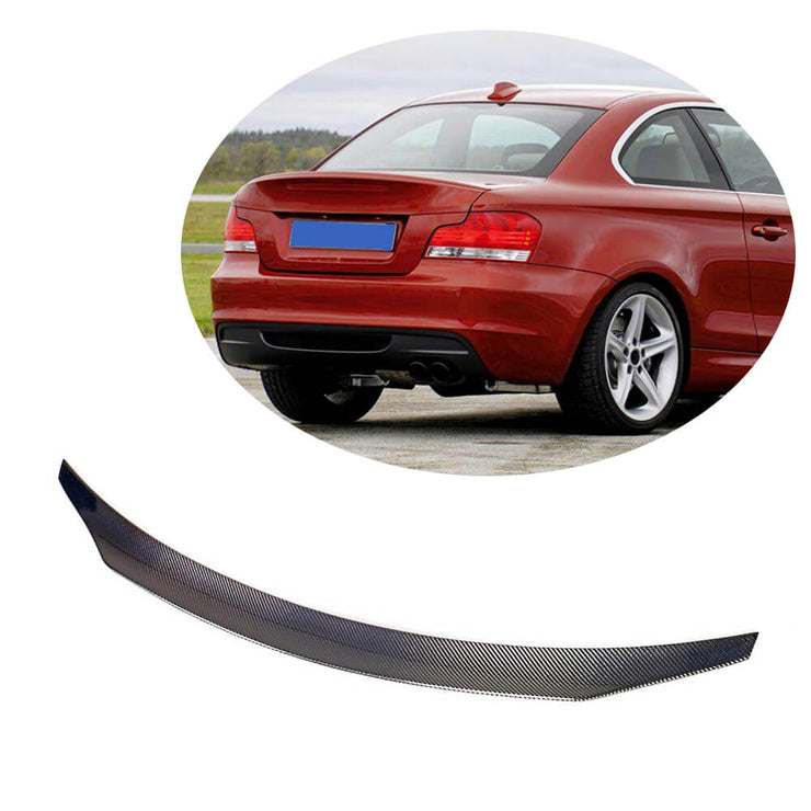 For BMW 1 Series E82 Coupe 2008-2013 Carbon Fiber Rear Trunk Spoiler Boot Wing Lip