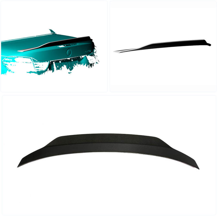 For BMW 4 Series F33 F83 M4 Convertible 14-19 Carbon Fiber Rear Trunk Spoiler Boot Wing Lip