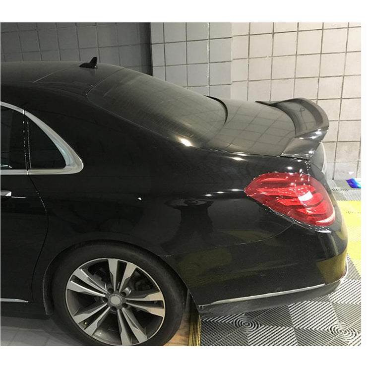 For Mercedes Benz W222 Sedan 14-20 Carbon Fiber Rear Trunk Spoiler Boot Wing Lip
