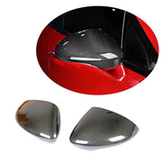 For Porsche Panamera 971 Hatchback Wagon 17-19 Carbon Fiber Side Rearview Mirror Cover Caps LHD Pair