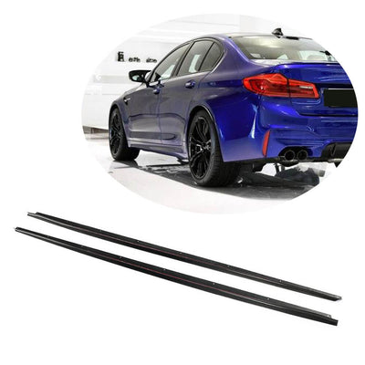 For BMW 5 Series G30 M Sport F90 M5 Sedan 17-20 Carbon Fiber Side Skirts Door Rocker Panels Extension Lip