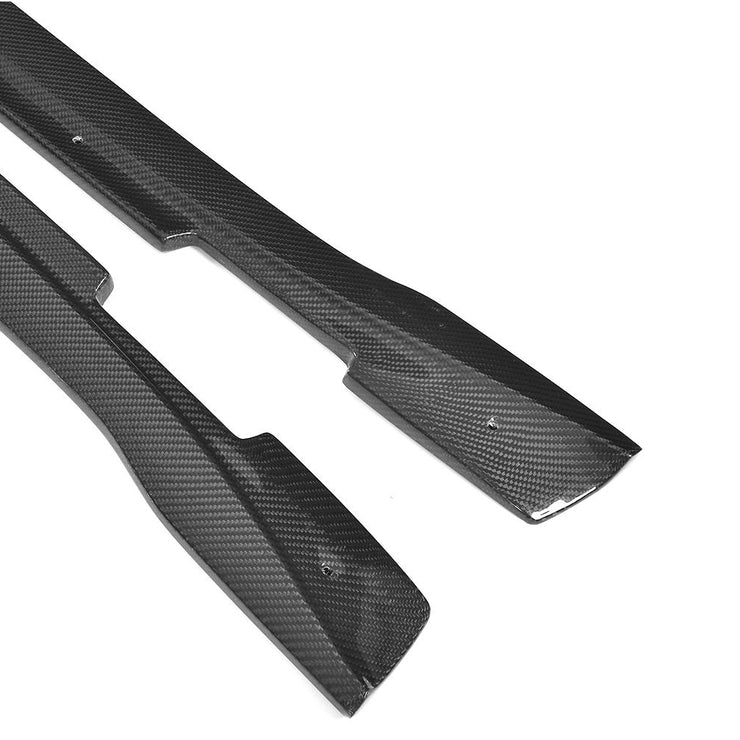 For Porsche Panamera 970 Hatchback 14-16 Carbon Fiber Side Skirts Door Rocker Panels Extension Lip