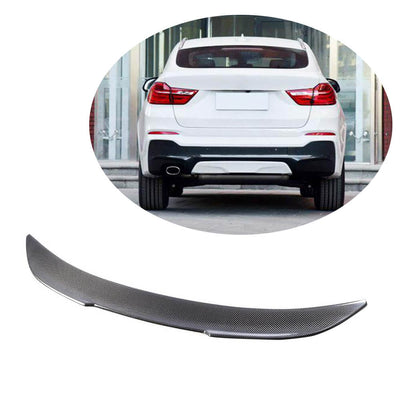For BMW X4 F26 Sport Utility 2014-2018 Carbon Fiber Rear Trunk Spoiler Boot Wing Lip