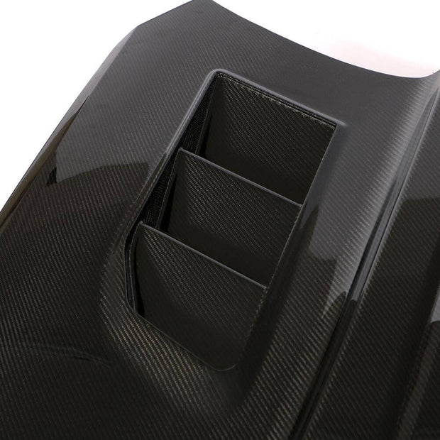 For Chevrolet Camaro 2-Door 16-19 Carbon Fiber Car Engine Bonnet Hood Cover