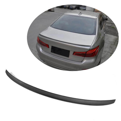 For BMW 5 Series G30 F90 M5 Sedan 17-19 Carbon Fiber Rear Trunk Spoiler Boot Wing Lip