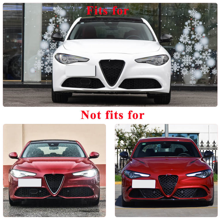 For Alfa Romeo Giulia Base Sedan 17-20 Carbon Fiber Rear Bumper Diffuser with Stainless Steel Exhaust Pipe Tips