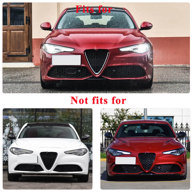 For Alfa Romeo Giulia Sport Sedan 15-20 Carbon Fiber Front Bumper Lip Chin Spoiler Body Kit