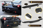 For Ferrari 458 2011 2012 2013 Auto Carbon Fiber Package Wide Body Kit