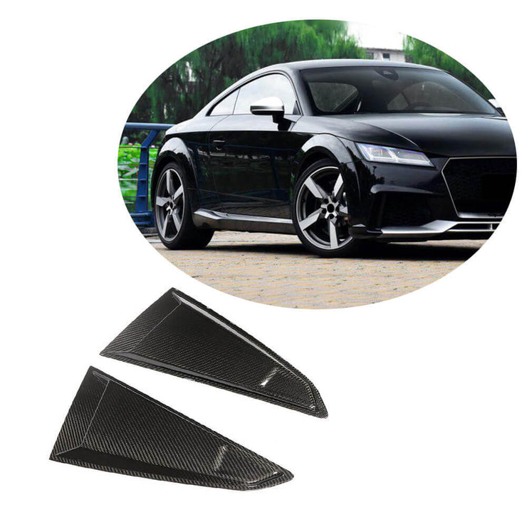 For Audi TT TTS TTRS Mk3 8S Coupe 15-19 Carbon Fiber Quarter Window Scoops