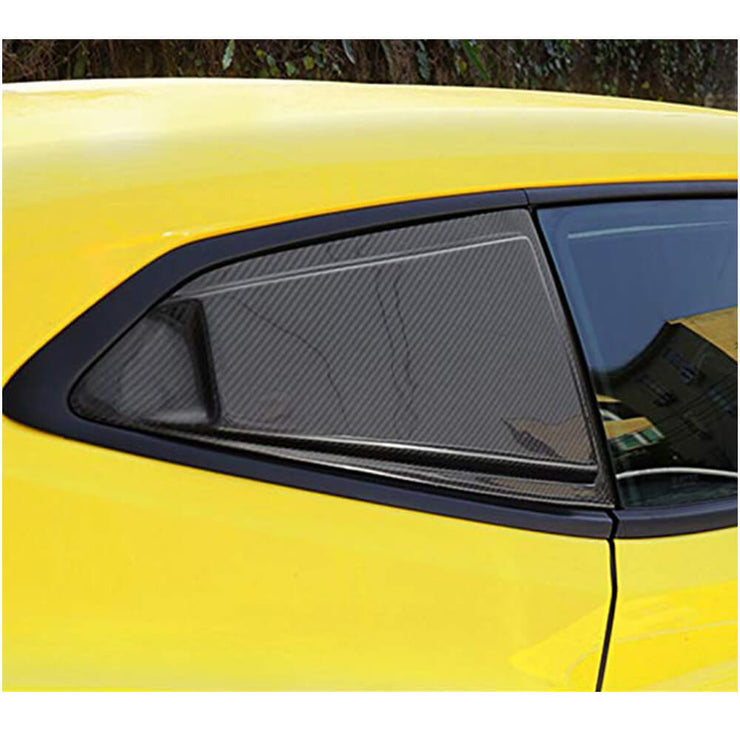 For Chevrolet Camaro Coupe 16-19 Carbon Fiber Rear Triangular Window Scoop Louver Fender Vents