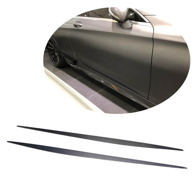 For Mercedes Benz C217 S500 S550 Sport Coupe 15-17 Carbon Fiber Side Skirts Door Rocker Panels Extension Lip