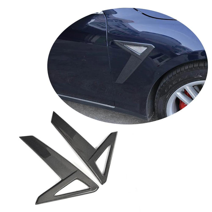 For Tesla Model S Sedan 14-17 Carbon Fiber Side Air Fender Vents