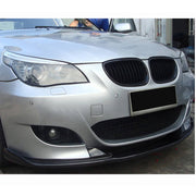 For BMW 5 Series E60 M Sport Sedan 04-10 Carbon Fiber Front Bumper Lip Chin Spoiler Body Kit